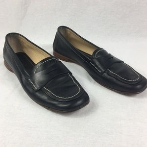 Coach VINTAGE Penny Loafers Black Leather Flats